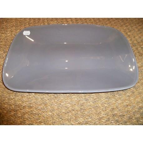 Plat rectangulaire en verre gris modèle Pop Aulica